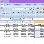 Mencari Maksimum dan Minimum di Excel