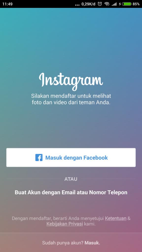 Cara Daftar Instagram 14
