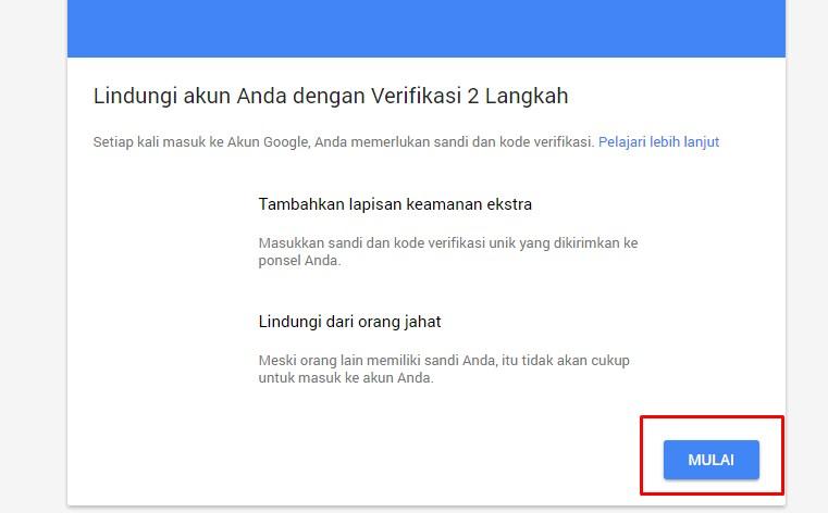 MengaktiMengaktifkan Verifikasi 2 Langkah untuk Keamanan Akun Gmailfkan Verifikasi 2 Langkah untuk Keamanan Akun Gmail