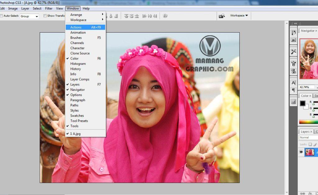 Cara Instal dan Menggunakan Action Photoshop 1