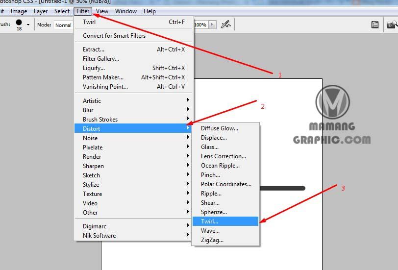 Cara Membuat Lingkaran Spiral di Photoshop 3