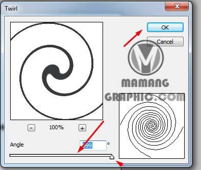 Cara Membuat Lingkaran Spiral di Photoshop 4