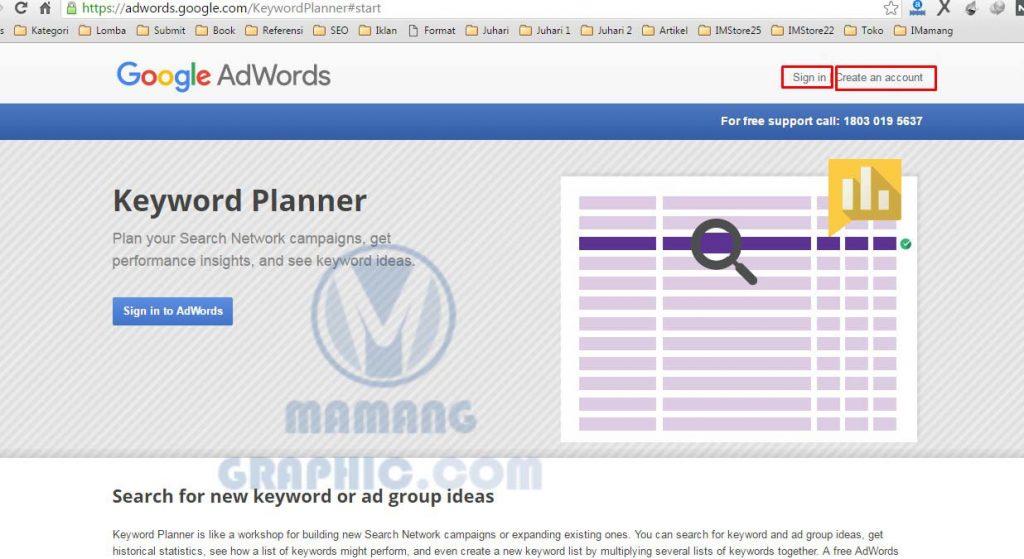 Cara Riset Keyword dengan Google Keyword Planner 1