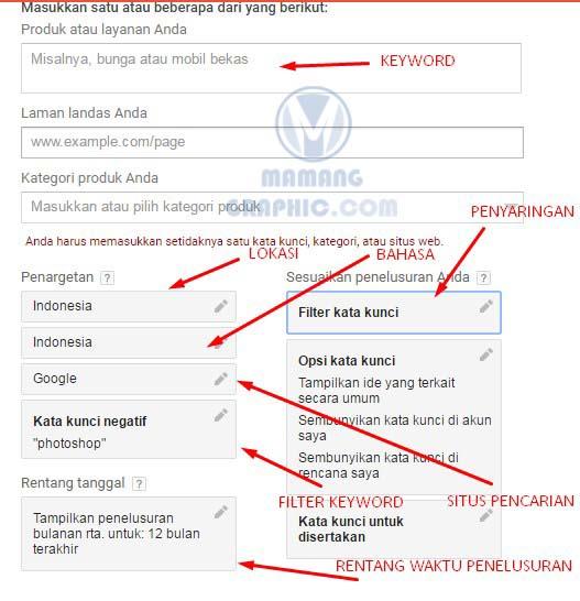 Cara Riset Keyword dengan Google Keyword Planner 5