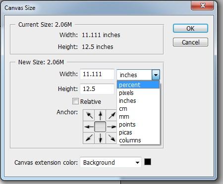 Mengatur Ukuran Lembar Kerja atau Kanvas pada Photoshop 6