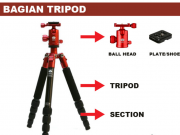 Bagian Tripod - Kepala Tripod