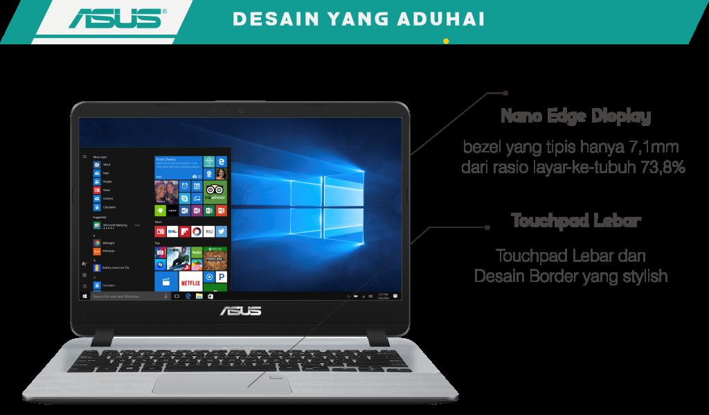 Desain Asus Vivobook A407