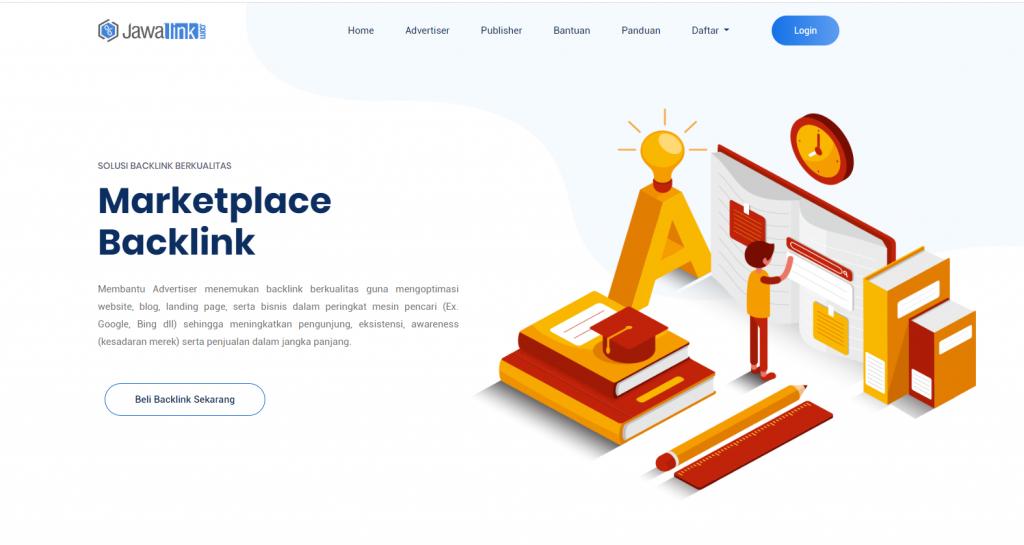 Tampilan Depan Website Startup Saya